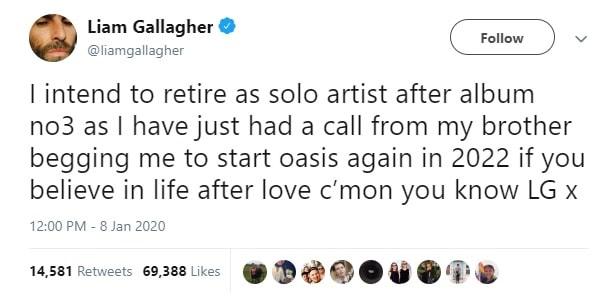 Liam Tweet